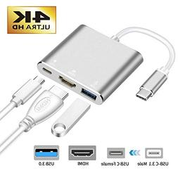 USB-C to HDMI Adapter,321OU USB 3.1 Type C to HDMI 4K Mult