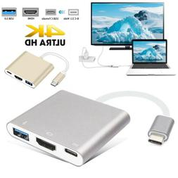 USB-C 3.1 Type C to USB 3.0 HDMI Type C Female Charger Adapt