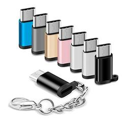 USB Type C Adapter 8 Pack, Micro USB Female to USB-C Male Co