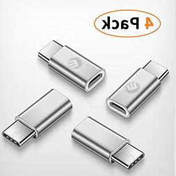 USB Type C Adapter 4 Pack,Emnt Micro USB(Female) to USB