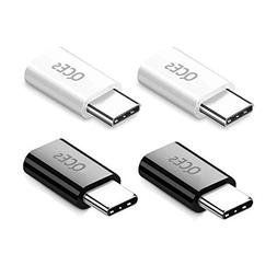 Micro USB to USB C Adapter, QCEs USB C to Micro USB Convert