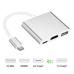 USB C to HDMI Adapter 4K, Acode 3 in 1 Type-C to HDMI Multip