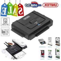 "UNITEK USB 3.0 to 2.5"" 3.5"" 5.25"" SATA IDE Hard Drive Adapte"