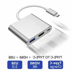 USB Type C to HDMI HDTV TV Cable Adapter Converter For Macbo