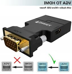 VGA to HDMI Adapter/Converter with Audio ,FOINNEX Male VGA t