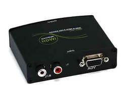 VGA & R/L Stereo Audio to HDMI Converter w/ DC Adapter
