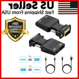 VGA To HDMI Adapter Full HD 1080P Audio Video Converter Lapt
