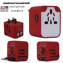 World Universal Travel Adapter With 4 USB Ports Power Conver