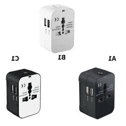 World Wide Travel Universal Adapter Converter With Dual USB