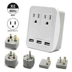 Outtag Worldwide Travel Power Adapter Kit w/Surge Protector